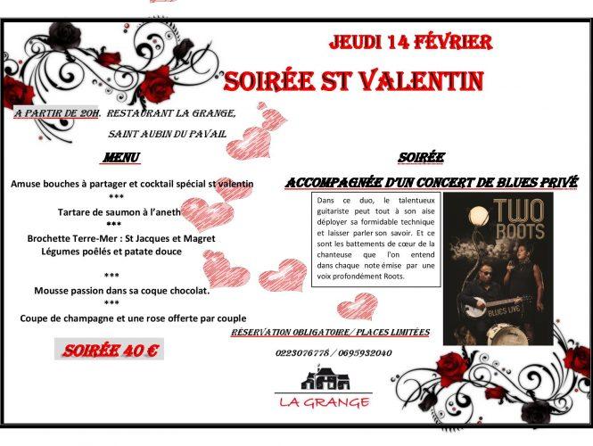 Soirée pour les couples de Châteaugiron à la St Valentin.