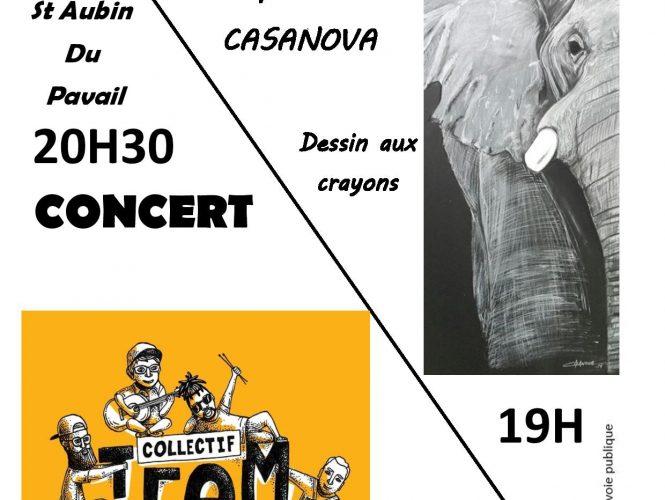 Concert et vernissage de l'été le samedi 3 août!