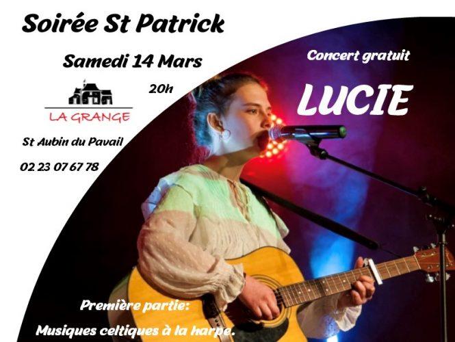 Féter la St Patrick à la Grange, avec Lucie!